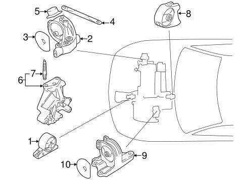 Engine & Trans Mounting for 2001 Mitsubishi Galant