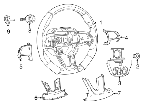 Steering Wheel & Trim for 2019 Dodge Challenger