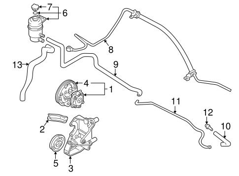 PUMP & HOSES for 2002 Mitsubishi Lancer