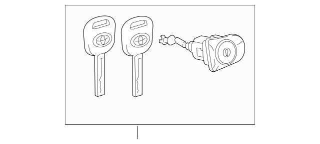 2018-2019 Toyota Camry Cylinder & Keys 69052-06260