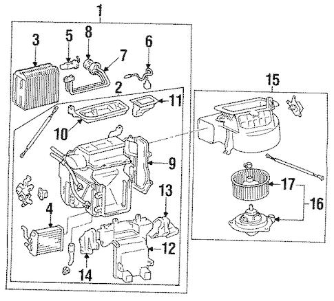 Genuine OEM Condenser, Compressor & Lines Parts for 1996