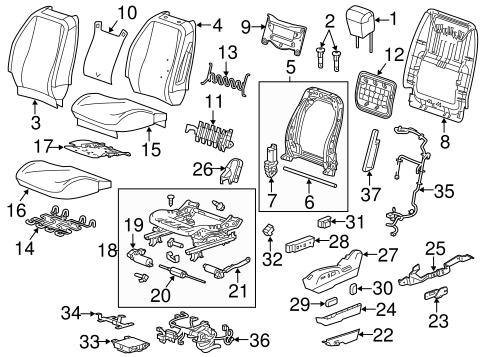 OEM 2013 Chevrolet Equinox Driver Seat Components Parts