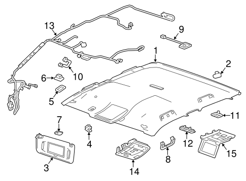 Overhead Console for 2020 Chevrolet Silverado 3500 HD
