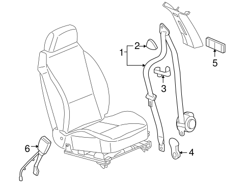 FRONT SEAT BELTS Parts for 2006 Pontiac G6