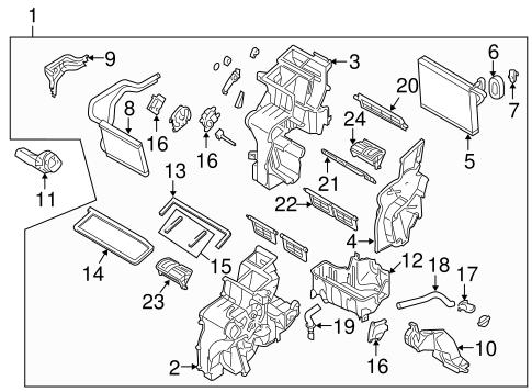 Evaporator & Heater Components for 2015 Hyundai Tucson