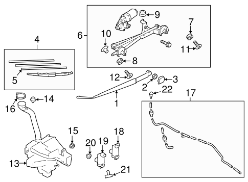 Wiper & Washer Components for 2014 Subaru Forester