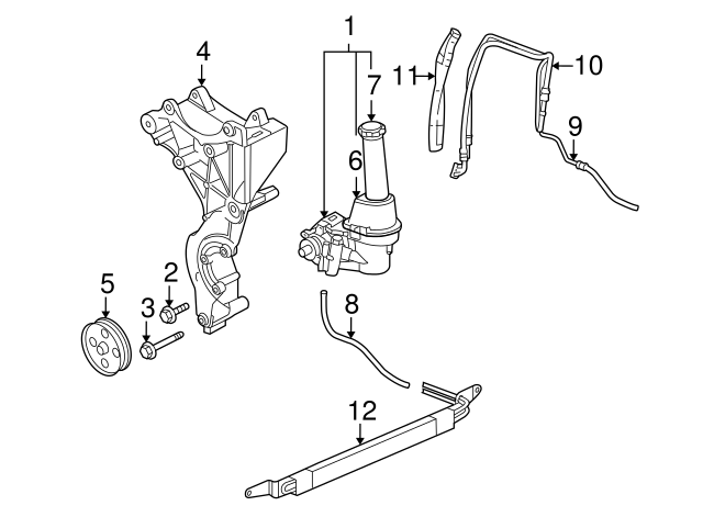 32 2006 Chevy Trailblazer Power Steering Lines Diagram