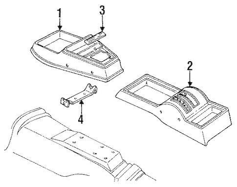 OEM FLOOR CONSOLE for 1984 Chevrolet Chevette