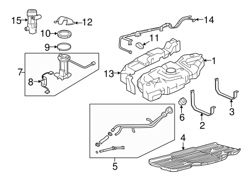 FUEL SYSTEM COMPONENTS for 2008 Ford Expedition