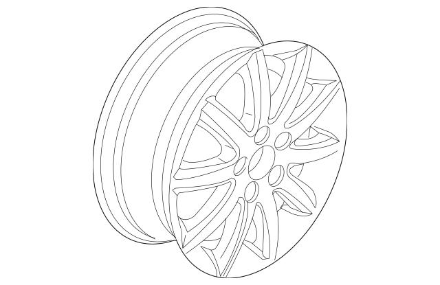 2007-2010 Volkswagen Jetta Wheel, Alloy 1K0-601-025-BC-8Z8