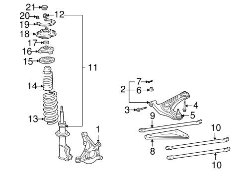 Suspension Components for 2003 Toyota MR2 Spyder