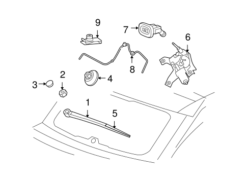 Jeep Body Wiper & Washer Components parts for a 2015 Jeep