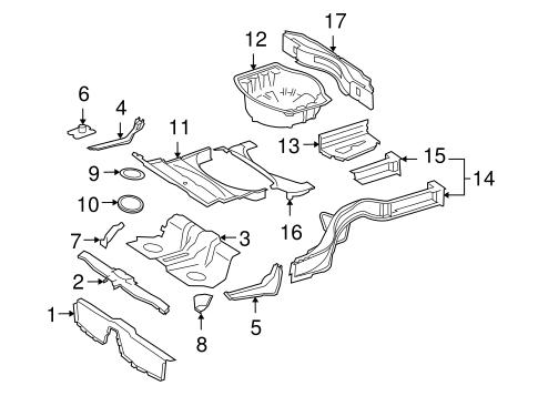 Rear Floor & Rails for 2008 Mercedes-Benz CL 63 AMG