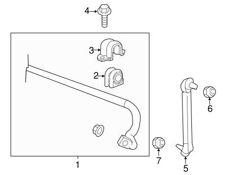OEM 2013 Chevrolet Sonic Stabilizer Bar & Components Parts