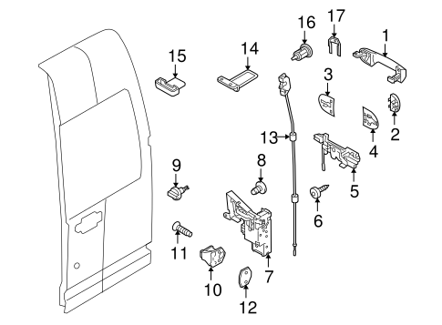 CARGO DOOR for 2012 Ford Transit Connect