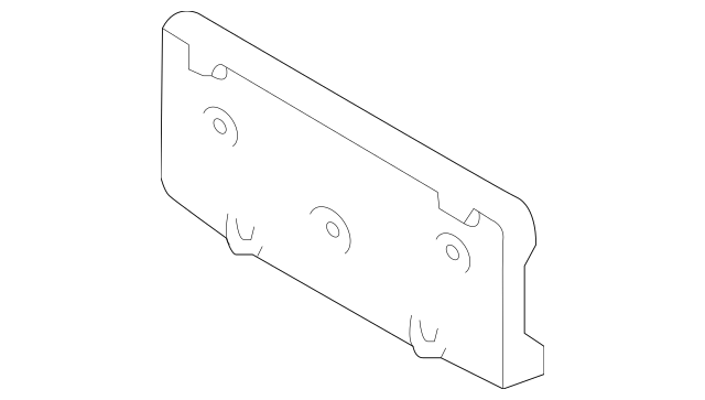 Buy this Genuine 2015-2017 Ford Expedition License Bracket