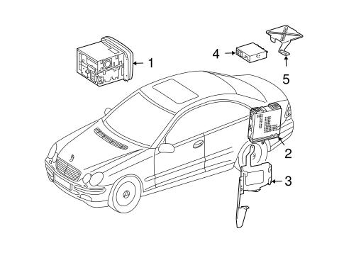 Navigation System Components for 2005 Mercedes-Benz CLK
