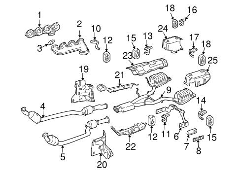Exhaust Components for 2008 Mercedes-Benz SLK 55 AMG