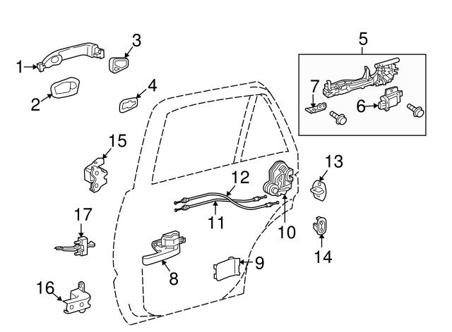 Toyota 68780-AA020 Rear Door Hinge Assembly
