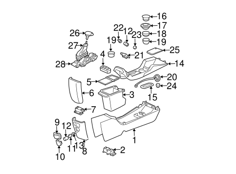 Shaft & Internal Components for 2001 Chevrolet Monte Carlo