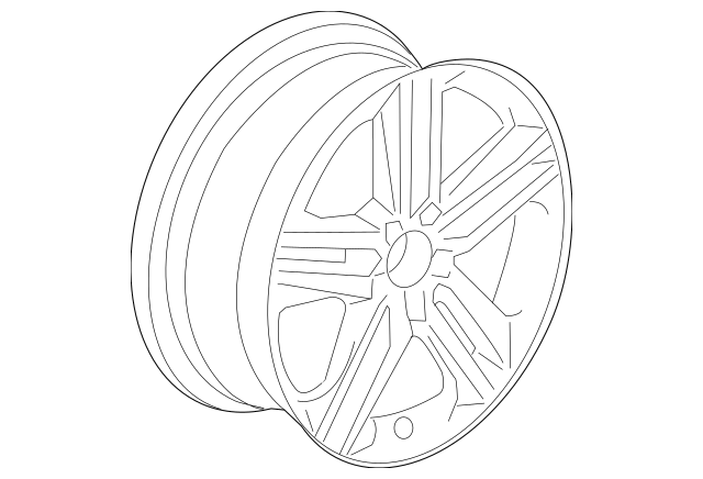 2016-2017 Honda Disk, Aluminum Wheel (19X8J) (Enkei) 42700