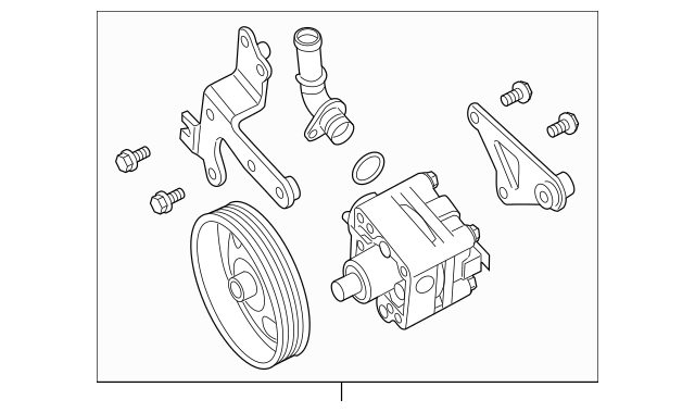 2009-2014 Nissan Maxima Power Steering Pump 49110-ZX70A