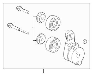Genuine 2003-2007 Honda Tensioner Set 04317-RCA-305