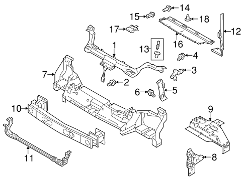 RADIATOR SUPPORT for 2012 Ford Transit Connect