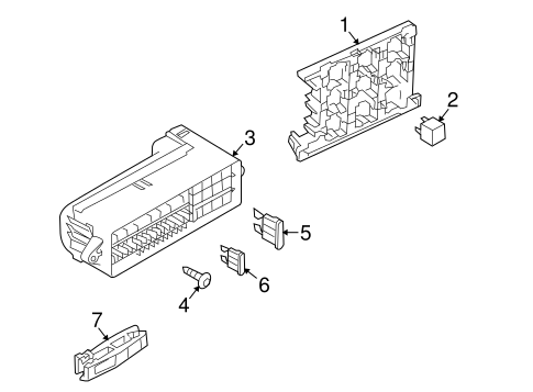 Fuse Box for 2015 Volkswagen Tiguan|000-937-615 : OEM