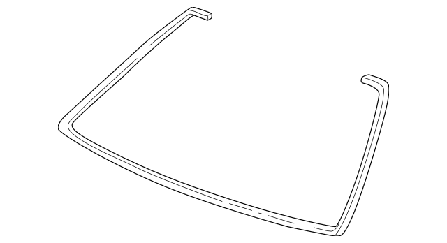 1998-2002 Honda ACCORD COUPE Rubber, Front Windshield Dam