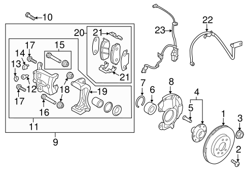 Brake Components for 2013 Hyundai Accent