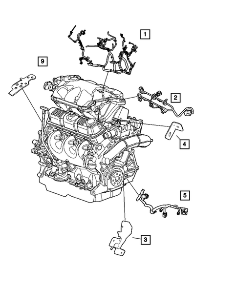 Wiring-Engine & Related Parts for 2005 Dodge Grand Caravan