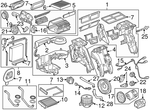 Evaporator & Heater Components for 2014 Chevrolet Cruze