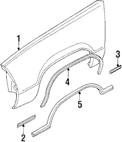OEM FENDER & COMPONENTS for 1986 Chevrolet El Camino
