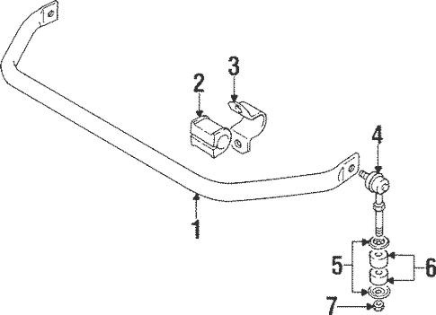 Stabilizer Bar & Components for 1994 Suzuki Sidekick