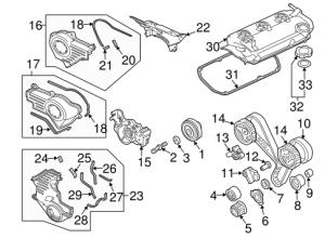 ENGINE PARTS for 2005 Mitsubishi Endeavor