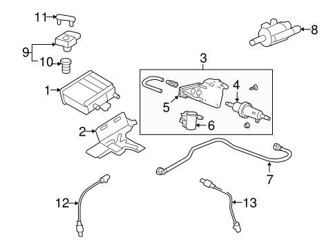 OEM EMISSION COMPONENTS for 2009 Cadillac Escalade