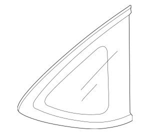 2012-2016 Honda CR-V 5-DOOR Glass Set, L Quarter (Privacy