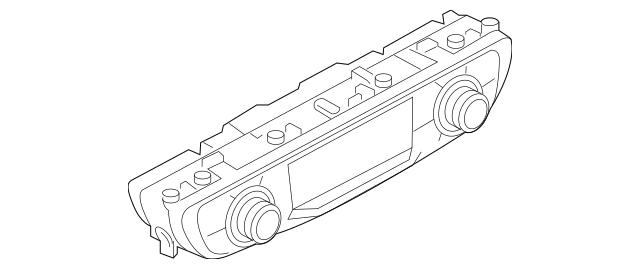 Genuine OEM Dash Control Unit Part# 4M0-820-043-AA-SWI