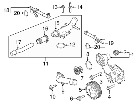 Water Pump for 2015 Ford F-150