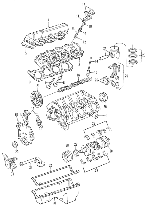 OEM 2003 Ford F-250 Super Duty Engine Parts