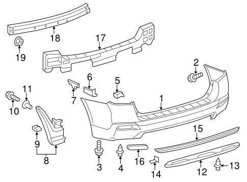 Toyota Highlander Body Parts Diagram