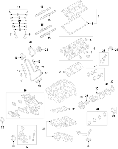Genuine OEM Engine Parts for 2014 Toyota Highlander LE