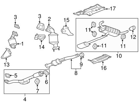 OEM 2013 GMC Terrain Exhaust Manifold Parts