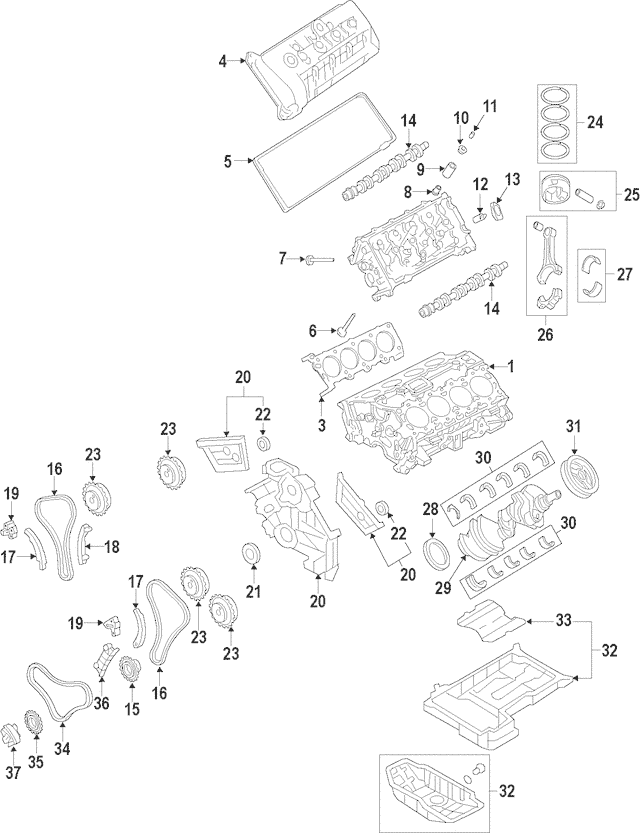 2009-2012 Hyundai Timing Chain 24312-3F300