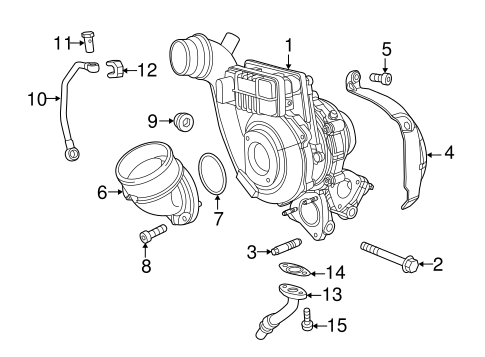Turbocharger & Components for 2015 Jeep Grand Cherokee