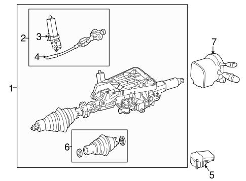 Steering Column Components for 2015 Mercedes-Benz SLK 55