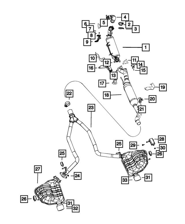 2014-2019 Jeep Grand Cherokee Catalytic Converter