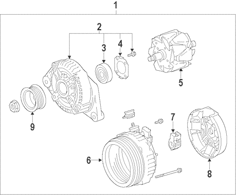 Genuine OEM Alternator Parts for 2010 Toyota FJ Cruiser