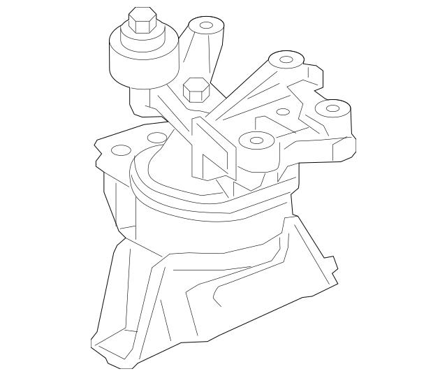 2013-2015 Acura ILX SEDAN Mounting, Engine Side 50820-TX6